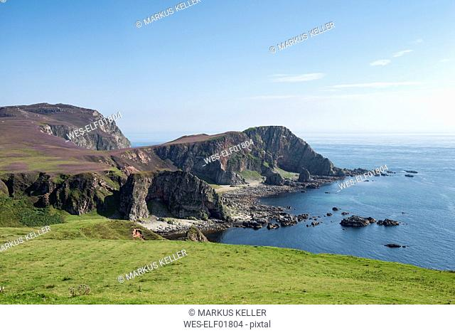 United Kingdom, Scotland, Inner Hebrides, Isle of Islay, cliff coast at Mull of Oa