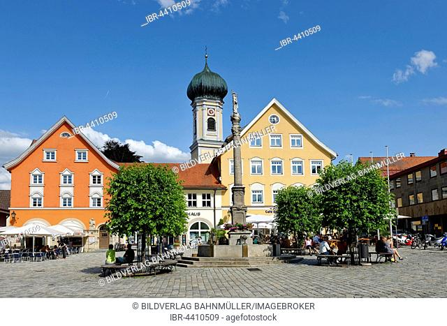 Marienplatz, Immenstadt, Allgäu, Bavaria, Germany