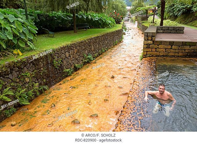 Hot Springs, Poca da Dona Beija, Furnas, Sao Miguel, Azores, Portugal