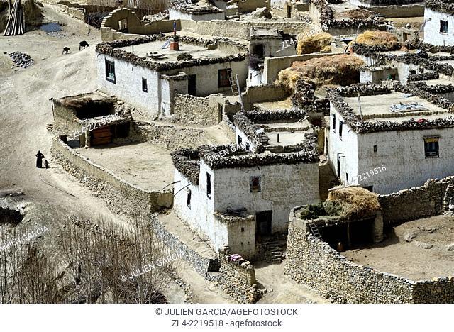 Village of Ghara between Yara and Lori Gompa. Nepal, Gandaki, Upper Mustang (near the border with Tibet)