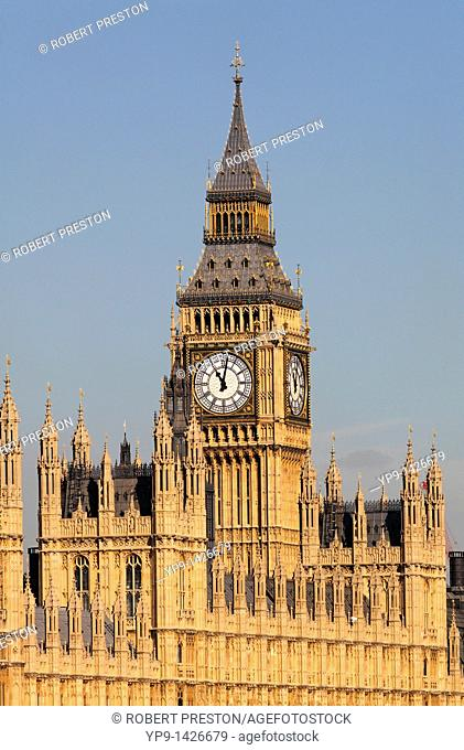 Big Ben and the Houses of Parliament, Westminster, London, UK