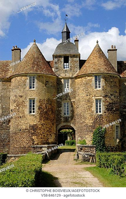Castle of Ratilly 13th century, Puisaye region, Yonne, France