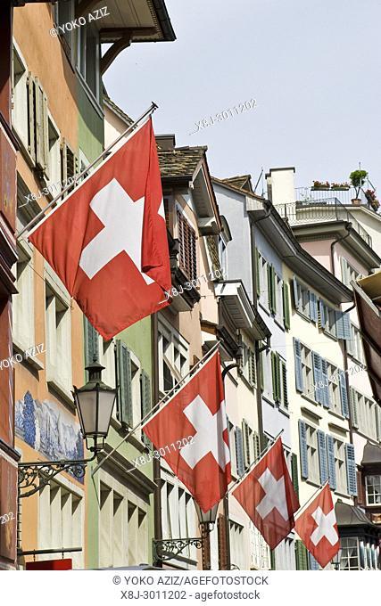 Traditional street, Zurich, Switzerland