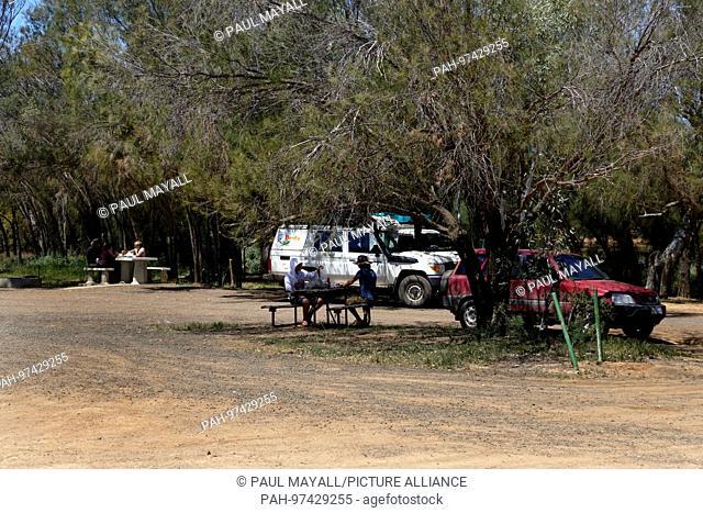 Tourists picnic area, Murchison, Western Australia | usage worldwide. - /Western Australia/Australia