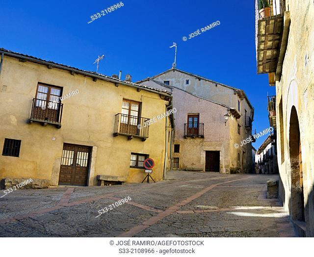 Mayor street in Pedraza. Segovia. Castilla Leon. Spain