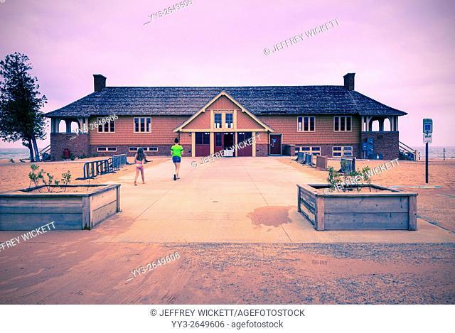 The Lake Michigan Beach House Located at Ludington State Park. It is the only Arts and Crafts beachhouse on Lake Michigan