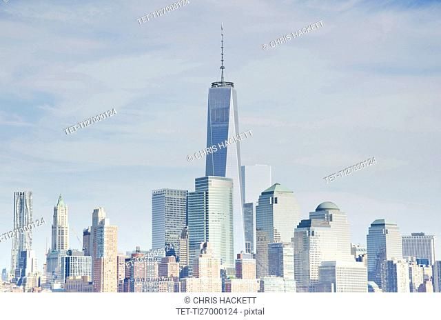 Manhattan skyline with One World Trade Center building