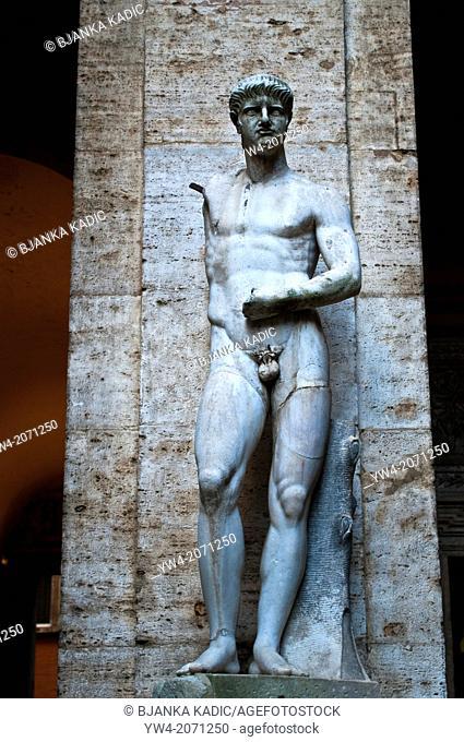 Sculpture in the atrium of the Italian Centre for American Studies - Centro Italiano Studio Americani, Rome Italy