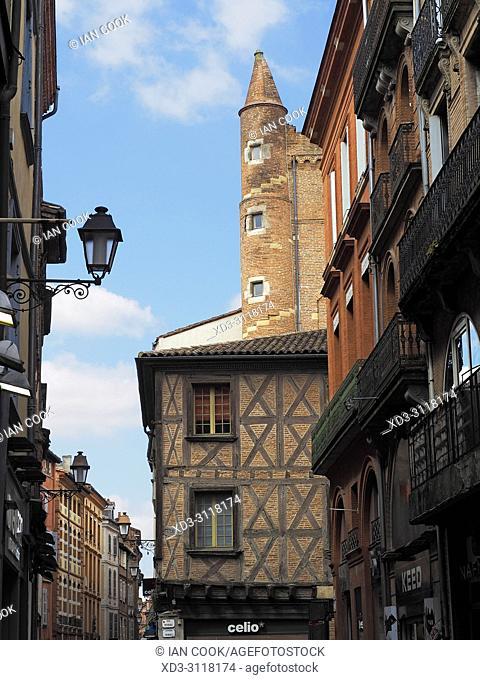 Rue des Changes, Toulouse, Haute-Garonne Department, Occitanie, France