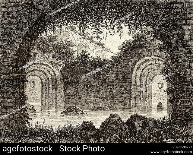 Cistern delle Sette Sale, Rome. Italy, Europe. Trip to Rome by Francis Wey 19Th Century