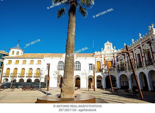 Plaza de la Constitución. Manzanares. Ruta de Don Quijote. Province of Ciudad Real. Spain