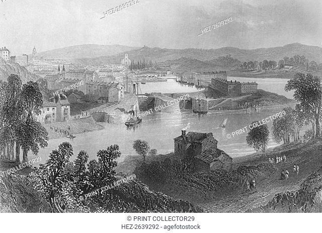 'Bristol (from Rownham Ferry)', 1859. Artist: Samuel Bradshaw
