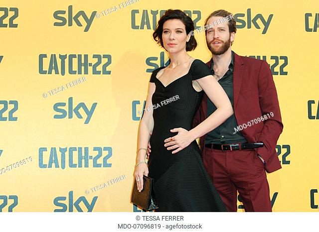 American actress Tessa Ferrer and her boyfriend attends the premiere of the Sky TV serie Catch-22. Rome (Italy), May 13th, 2019