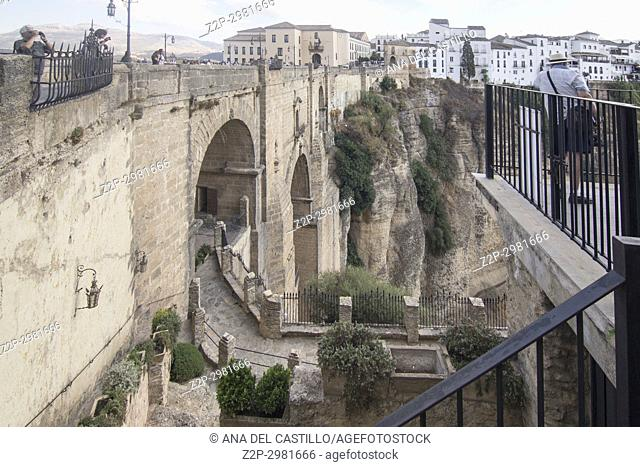 Ronda Bridge Malaga province , Andalusia, Spain