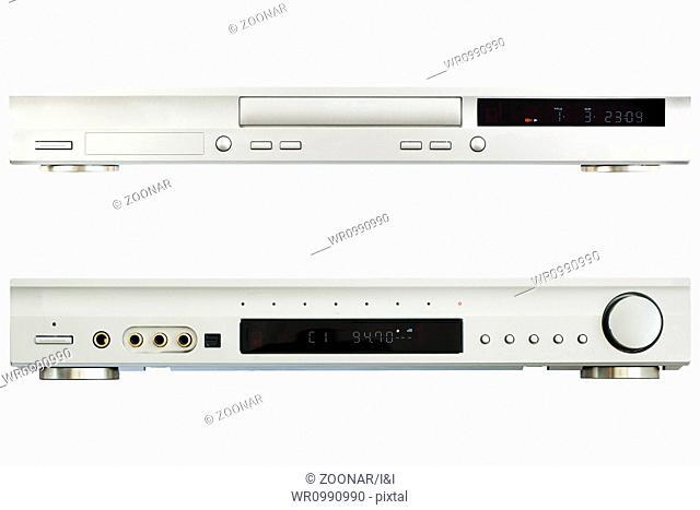 DVD Player AV Receiver on a white background