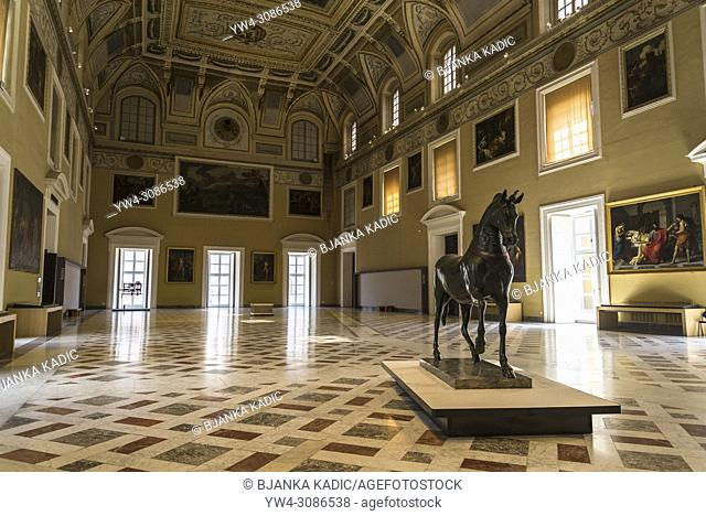 The Hall of the Sundial, or Meridian Hall, National Archaeological Museum, Naples, Italy