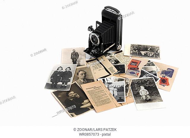 Nostalgic Photographs and roll film camera