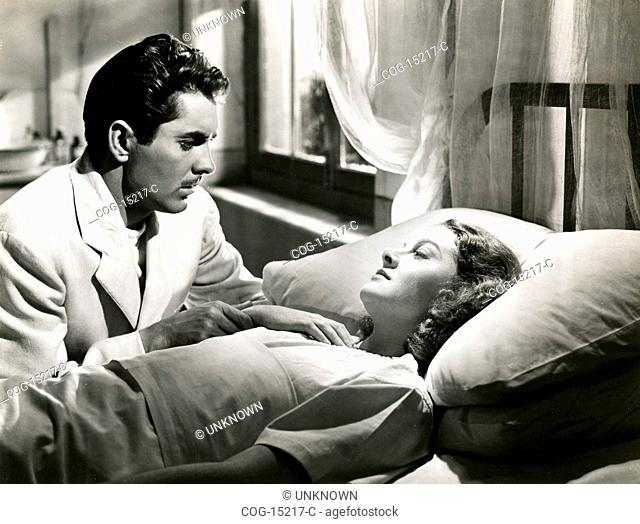 The actors Tyrone Power and Brenda Joyce in the movie The rains came, USA 1939