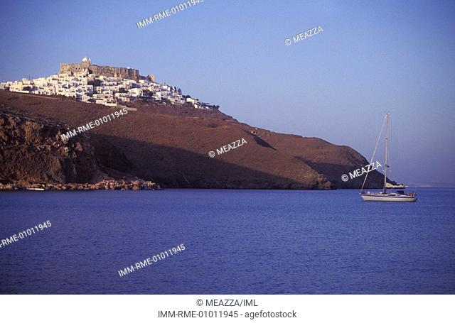 View of the Hora  Astypalea, Dodecanese, Greece