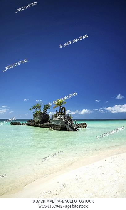 station 2 main beach area of tropical paradise boracay island philippines