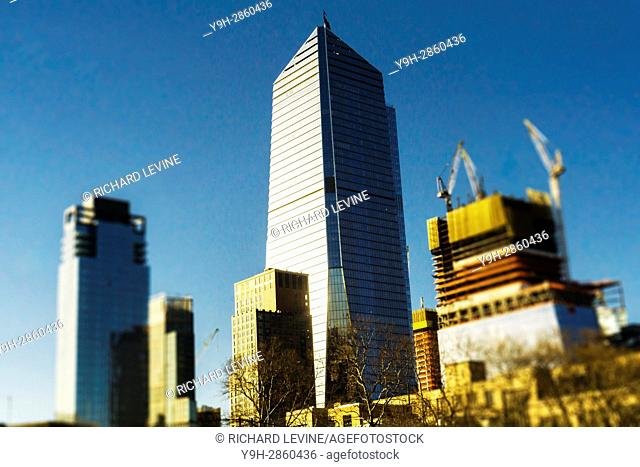 10 Hudson Yards, center, and adjacent development in New York