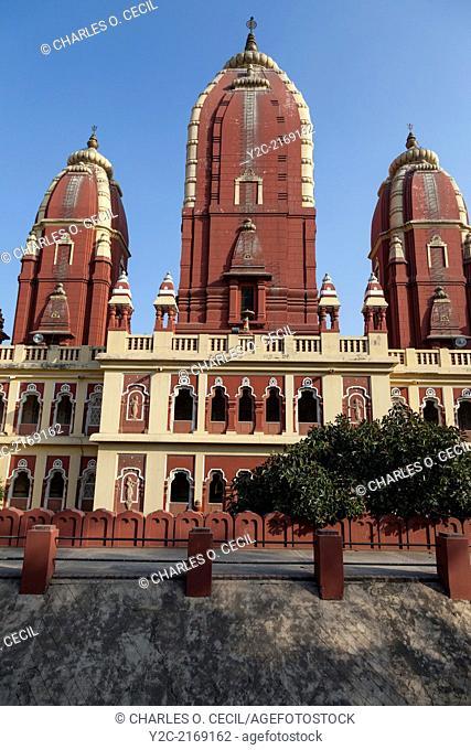 New Delhi, India. Lakshmi Narayan Mandir, a Hindu Temple Inaugurated 1939. Architect Chandra Chatterjee