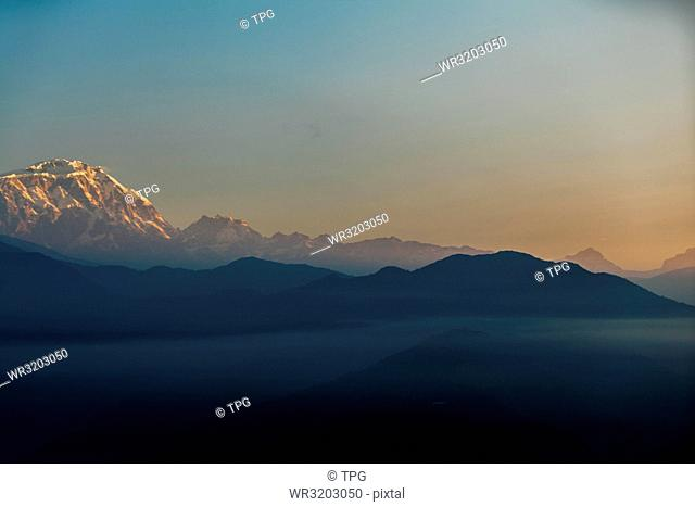 Nepal;Pokhara;Machapuchare sunrise