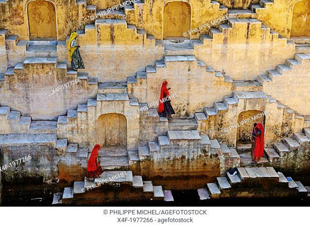 India, Rajasthan, Jaipur the Pink city, water tank for rain near Jaipur
