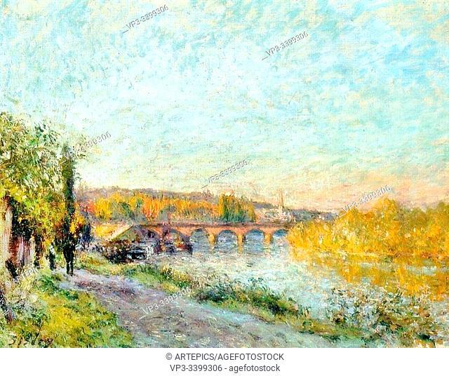 ALFRED SISLEY (1839 - 1899) - LE PONT DE SVRES -1877