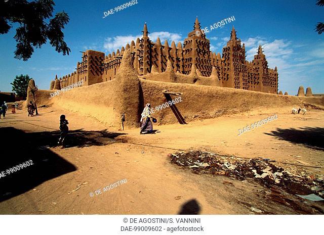 The Great Mosque, 1907, Djenne (UNESCO World Heritage List, 1988), Mopti. Mali, 20th century