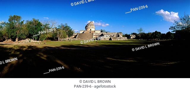 El Caracol, or The Observatory, Mayan Ruins at Chichen Itza, Mexico