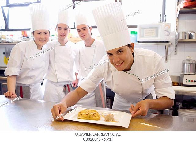 Apple pie. Luis Irizar cooking school. Donostia, Gipuzkoa, Basque Country, Spain