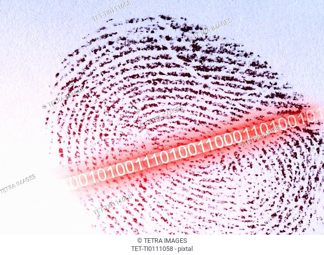Thumb print with security code
