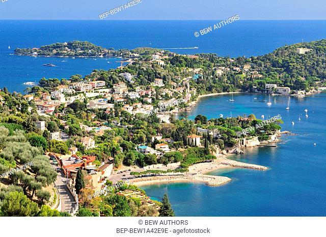 The famous perched village of Saint-Jean-Cap-Ferrat. Europe, France, Alpes-Maritimes