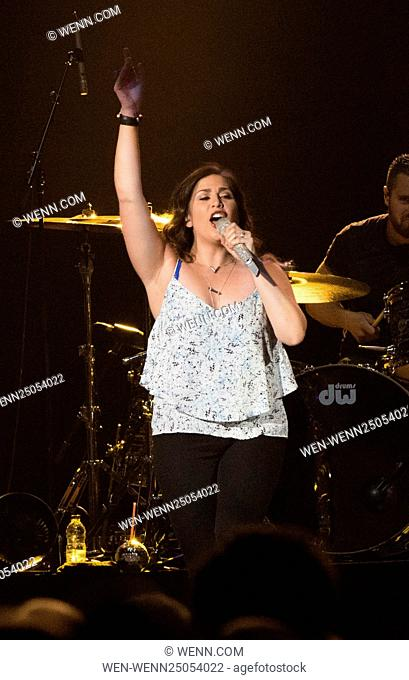 Lady Antebellum performing at Scotiabank Saddledome in Calgary Featuring: Hillary Scott Where: Calgary, Canada When: 15 Jul 2016 Credit: WENN.com