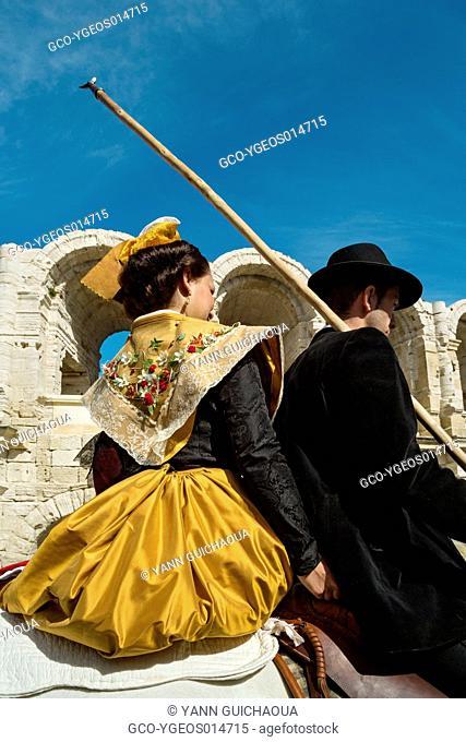 Traditional Costume,Gardians 's Celebration, Arles, Camargue, France
