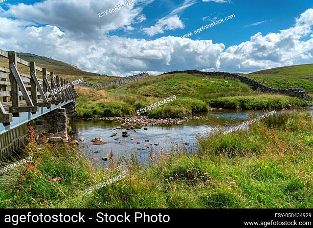 View over the River Twiss near Ingleton in Yorkshire