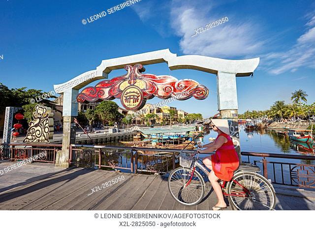Cau An Hoi Bridge. Hoi An, Quang Nam Province, Vietnam