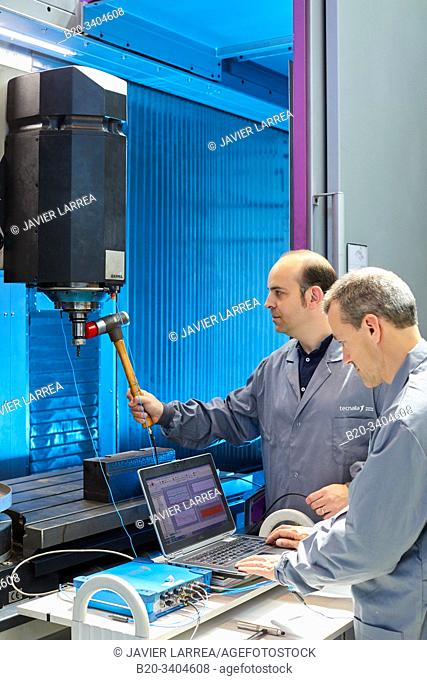 Sensorized and monitored machine for Modal analysis, Vibrational analysis, Advanced Manufacturing Industry, Technology Centre, Tecnalia Research & Innovation