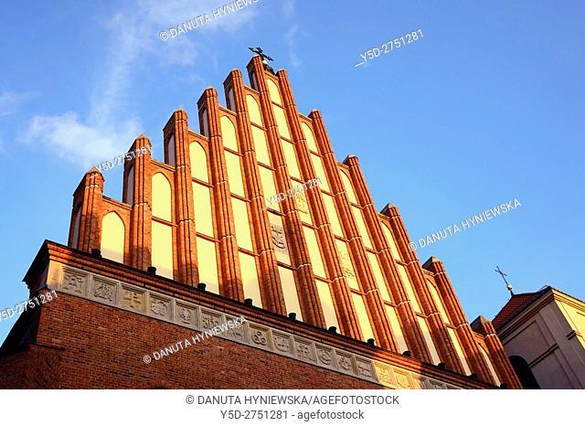 St John's Archcathedral, Archikatedra Sw. Jana, Swietojanska street, Warsaw's Old Town - UNESCO World Heritage, Warsaw, Poland, Europe