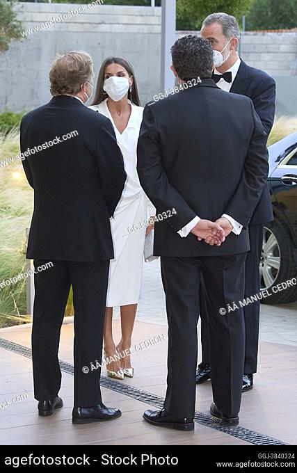 King Felipe VI of Spain, Queen Letizia of Spain attends 'Luca de Tena', 'Mariano de Cavia' and 'Mingote' journalism awards at ABC on June 22, 2021 in Madrid