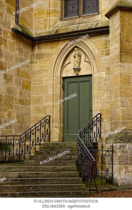South porch of the parish church Stadtpfarrkirche St. Dionys in Esslingen at the Neckar near Stuttgart, Germany