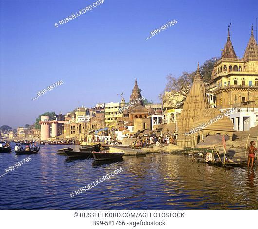 Manikarnika Ghat, River Ganges, Varanasi, Utar Pradesh, India