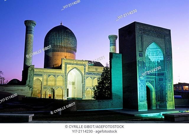 Gur Emir mausoleum, the tomb of Tamerlane, Samarkand, Uzbekistan