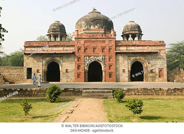 Area by Humayun's Tomb - Tomb of Isa Khan (Lodi Architecture)- Surrounding buildings. Central Delhi. Delhi. India