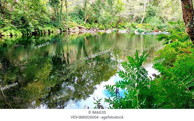 Eo river, between Asturias and Galicia, near San Tirso de Abres village. Spain