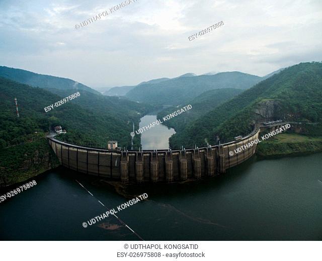 Bhumibol Dam Aerial view