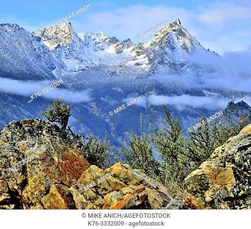 Trapper Peak, Winter, Bitterroot Mountains of Montana