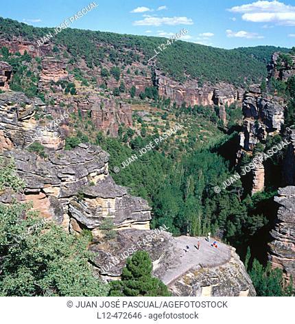 Route of the Cid. Barranco de Nuestra Señora de la Hoz. Cañón del Gallo. Corduente. Guadalajara province. Spain