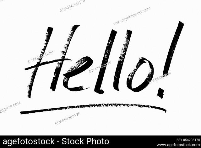 Hello! - Modern calligraphy, marker pen lettering